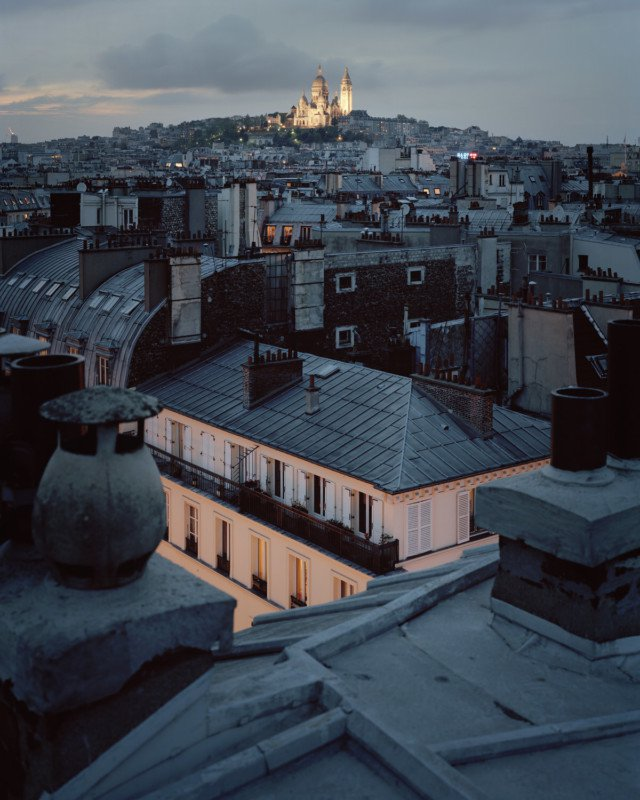 Over Paris: 4 x 5 night photographs by Alain Cornu