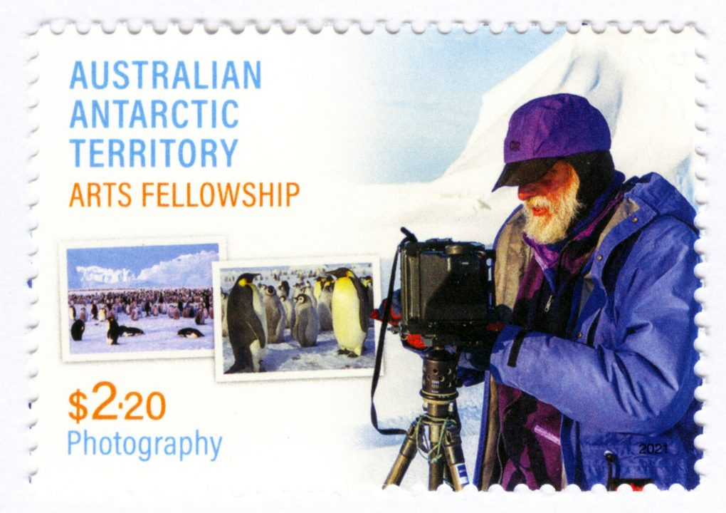 Large format photographer featured on postage stamp